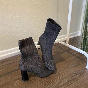 Barely worn silver Zara sock booties!